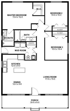 Drawn bedroom first Plan and Plan 2 for