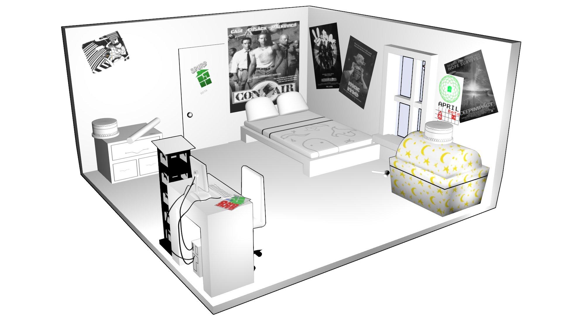 Drawn bedroom homestuck #9