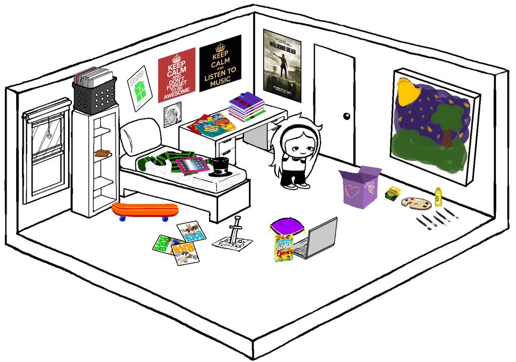 Drawn bedroom homestuck #4