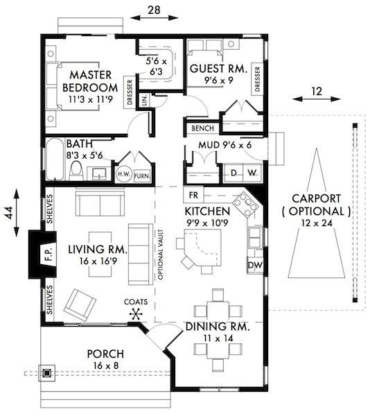 Drawn bedroom inside house #5
