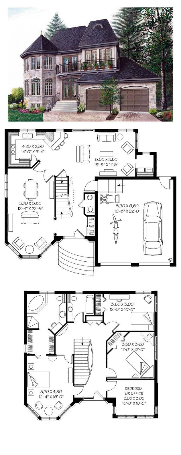 Drawn bedroom inside house #8