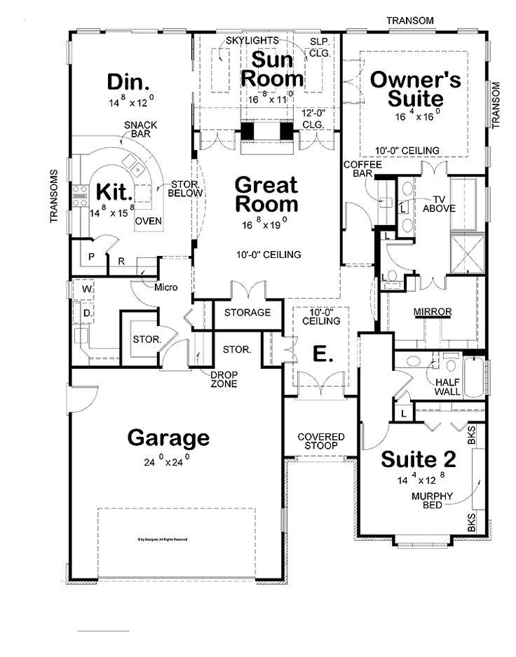 Drawn bedroom inside house #4