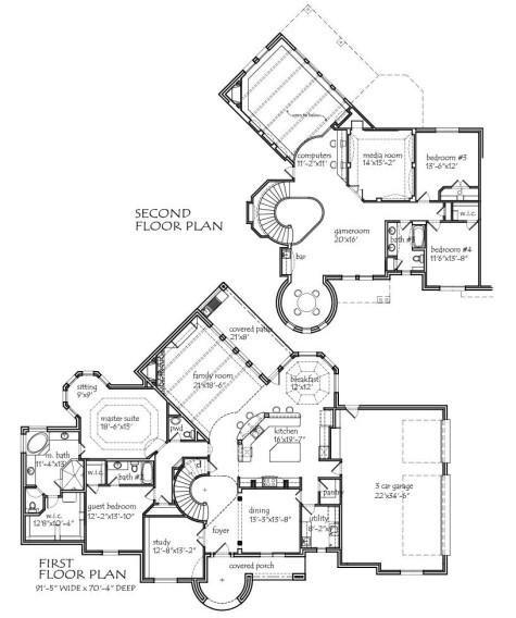 Drawn bedroom inside house #11