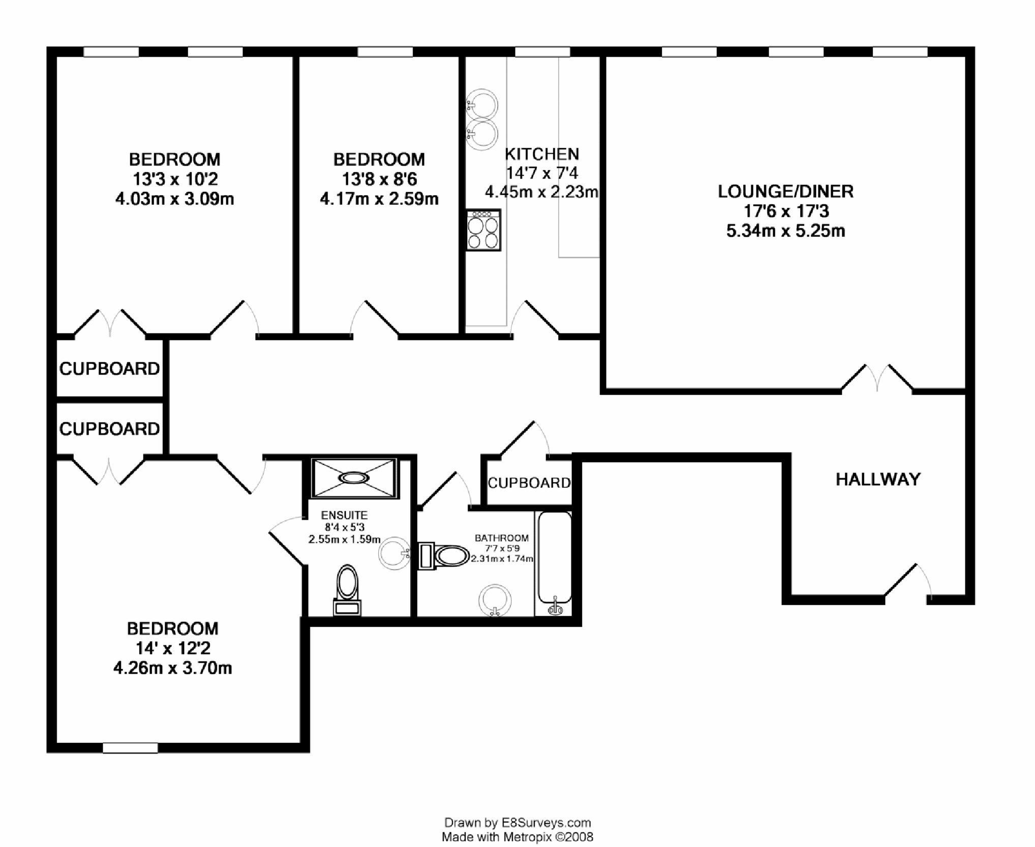 Drawn bedroom inside house #3