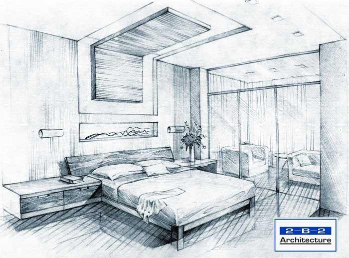 Drawn bedroom interior designer Ideas Simple design Sketch Bedroom