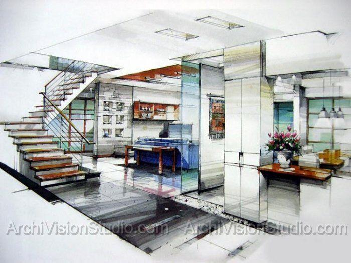 Drawn bedroom interior designer  interior interior and Love