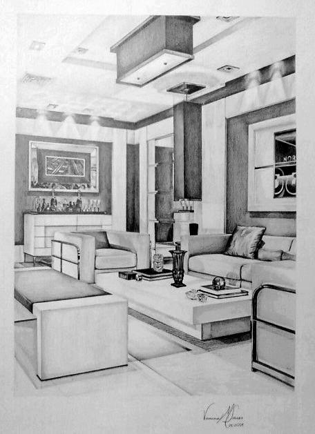 Drawn bedroom interior designer Perspective Pinterest effect Value met