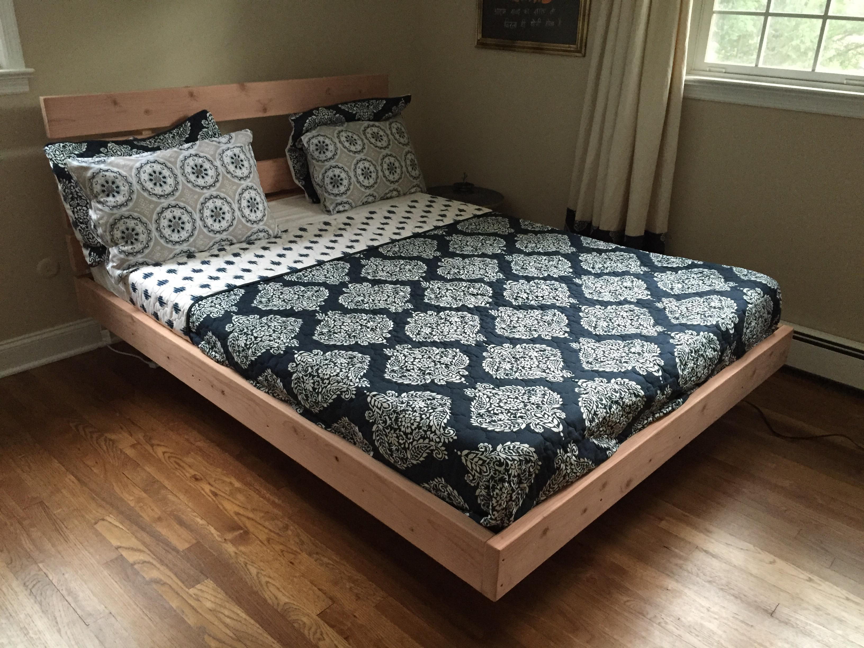 Drawn bedroom mattress DIY bed with detailed tools