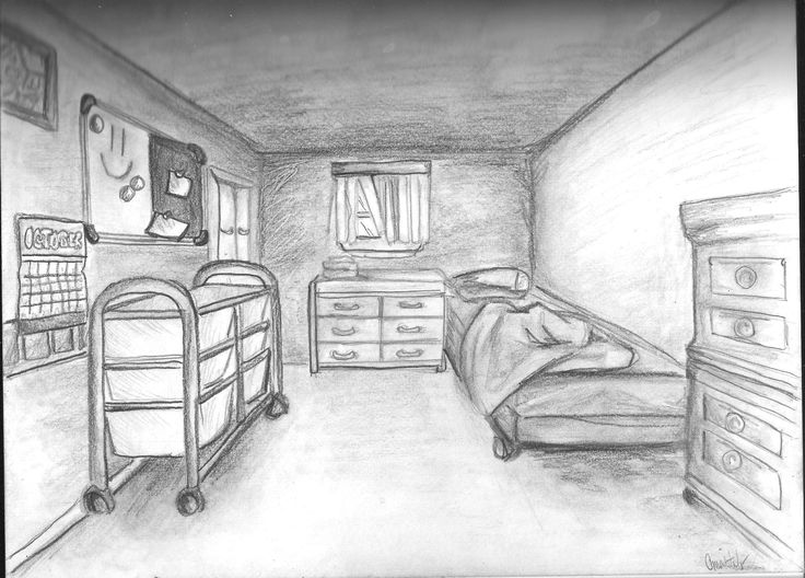 Drawn bedroom perspective Bedroom Free Perspective Perspective Drawing
