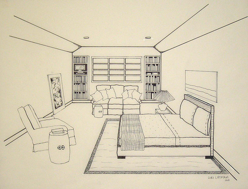 Drawn bedroom perspective Of Perspective Drawings Objective: Unique