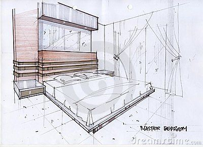 Drawn bedroom room design #6