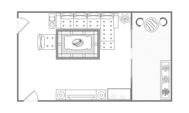 Drawn bedroom sketch plan Layout Balcony Drawing Balcony Drawing