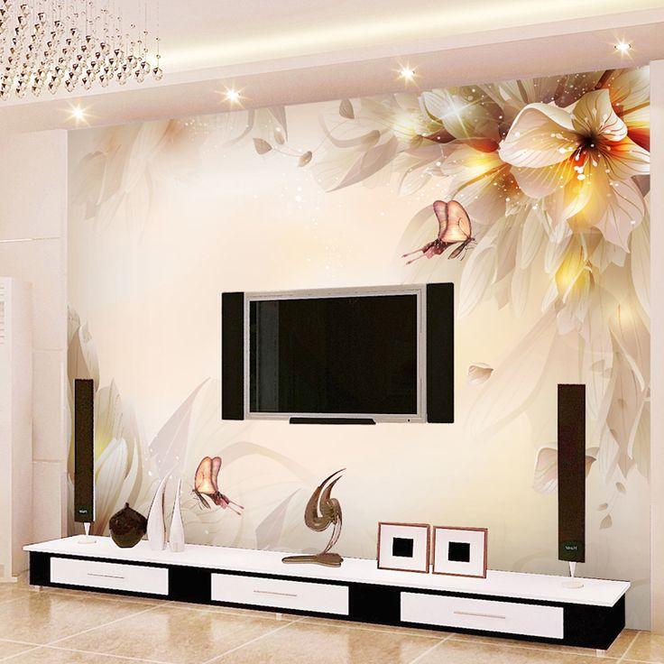 Drawn bedroom wall texture On wallpaper mural 25+ 3d