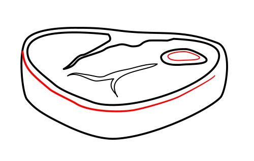 Drawn steak cute A Drawing cartoon steak Cartoon