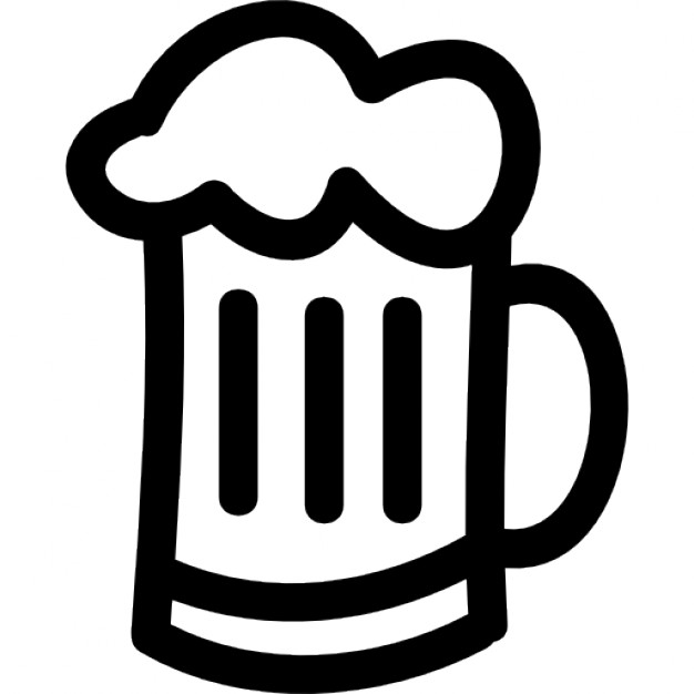Drawn beer german beer Beer jar hand hand Icons