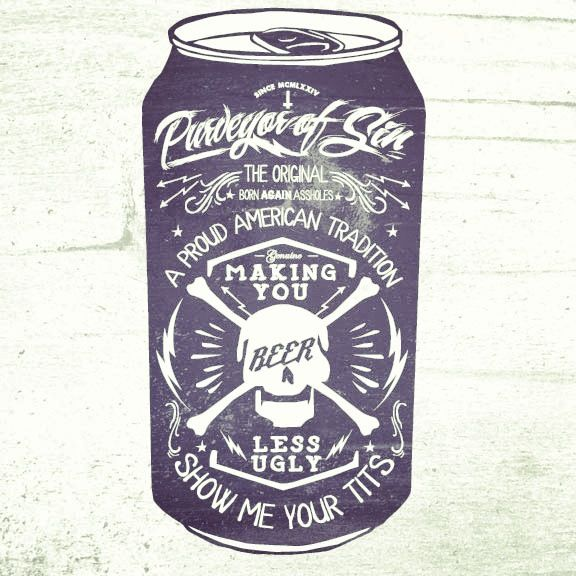 Drawn beer beer can #13