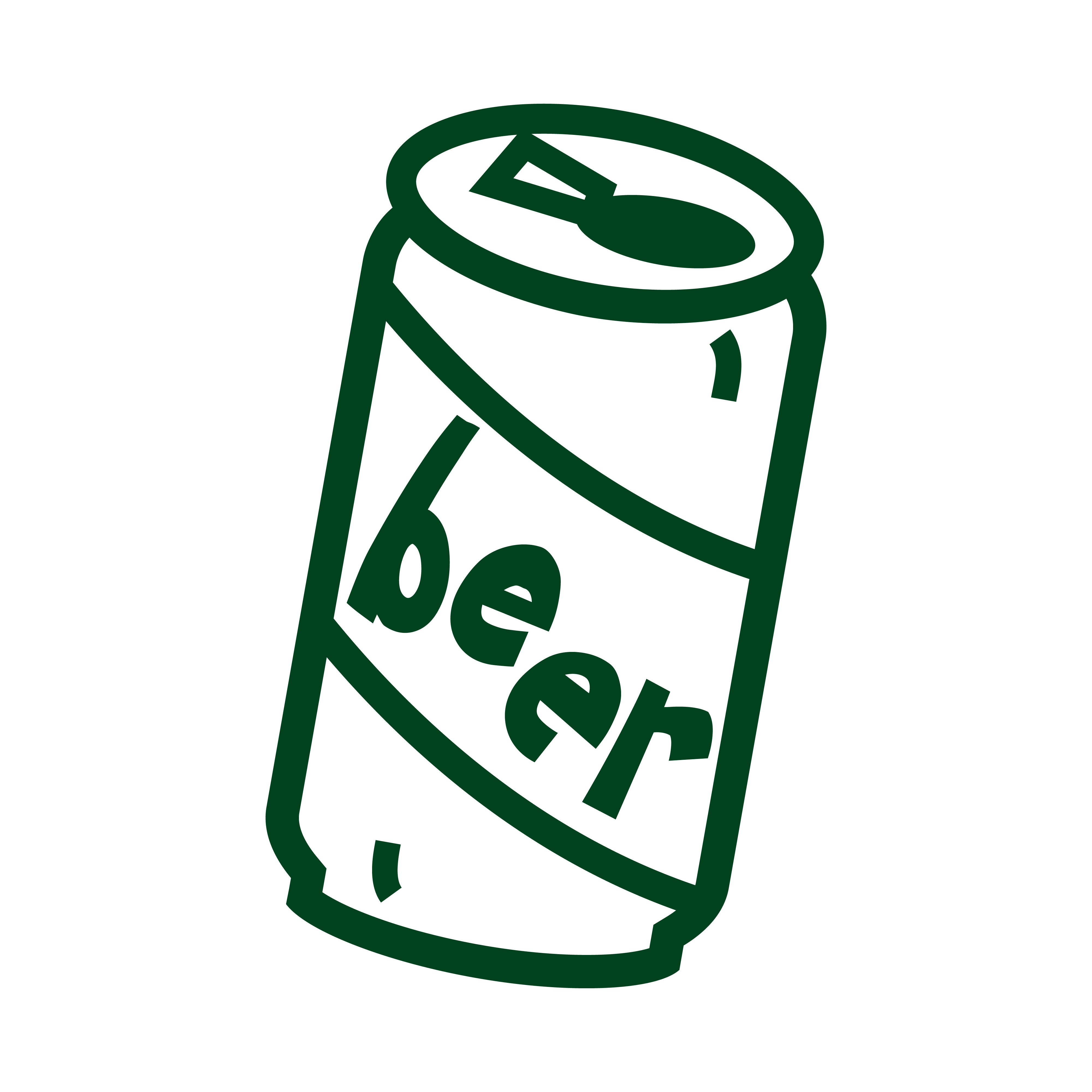 Drawn beer beer can #9