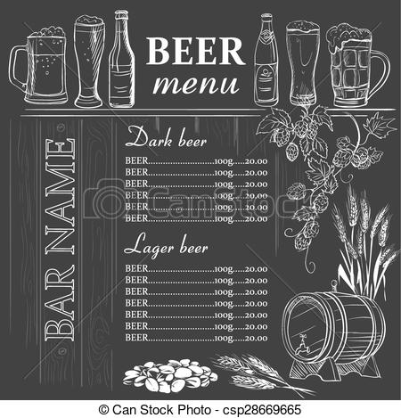 Drawn beer chalkboard #12