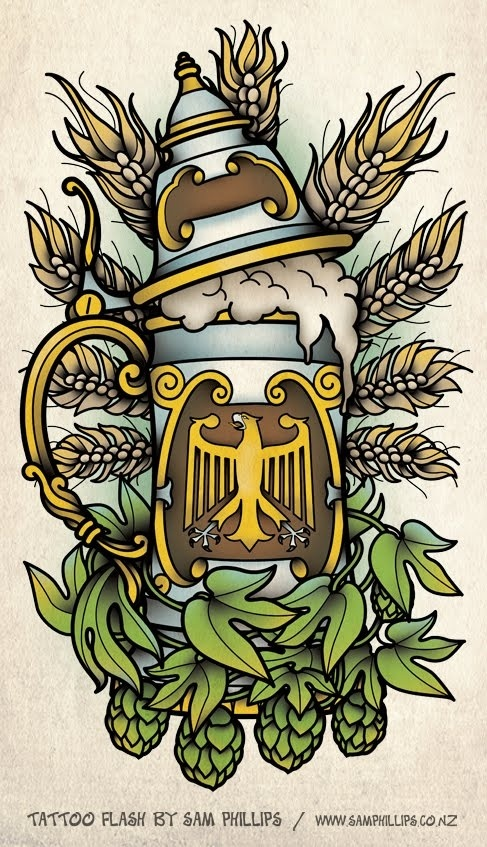 Drawn beer german beer Sam beer German in Pinterest