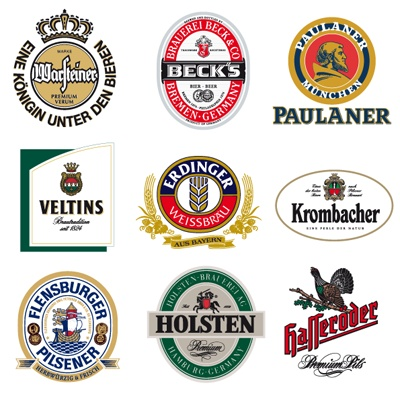 Drawn beer german beer German vector Logos logos German