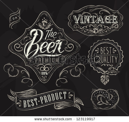 Drawn beer vintage beer #14