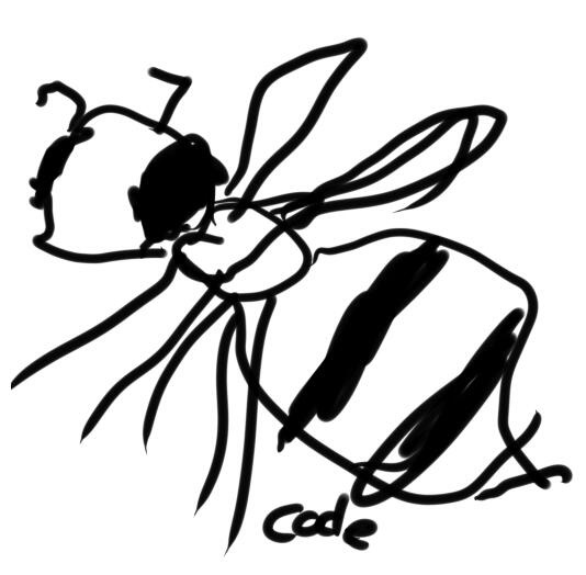 Drawn bees #8