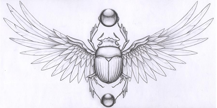 Drawn beatle egyptian #1