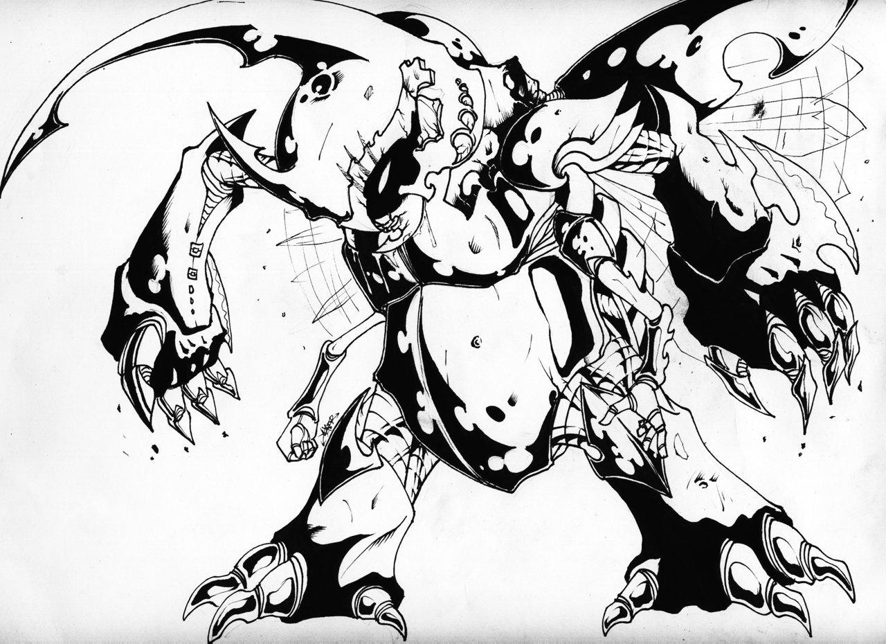 Drawn beatle hercules beetle #2