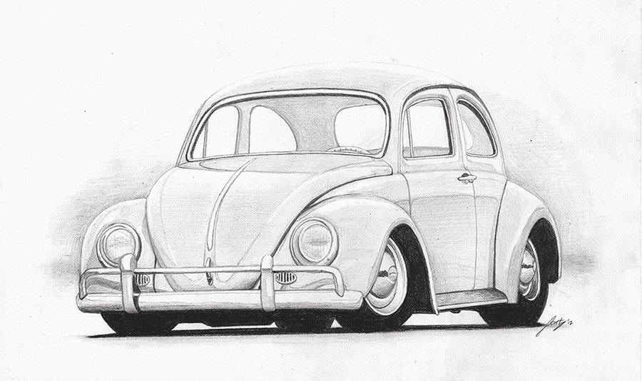 Drawn car vw car #15