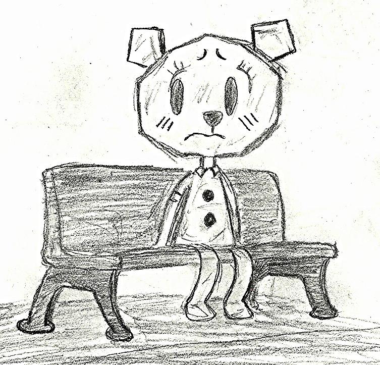 Drawn bench By (TAWOG) a GlamMetalhead a