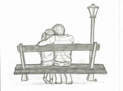 Drawn bench Aww and // Couples