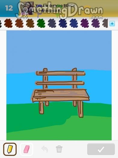 Drawn bench SomethingDrawn Draw Something  bench