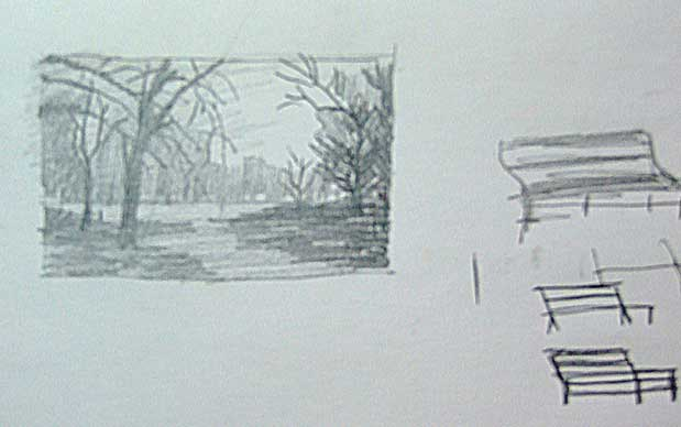 Drawn bench How Draw A Park Bench