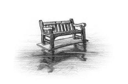 Drawn bench Bench Bench Floating Sketch Sketch