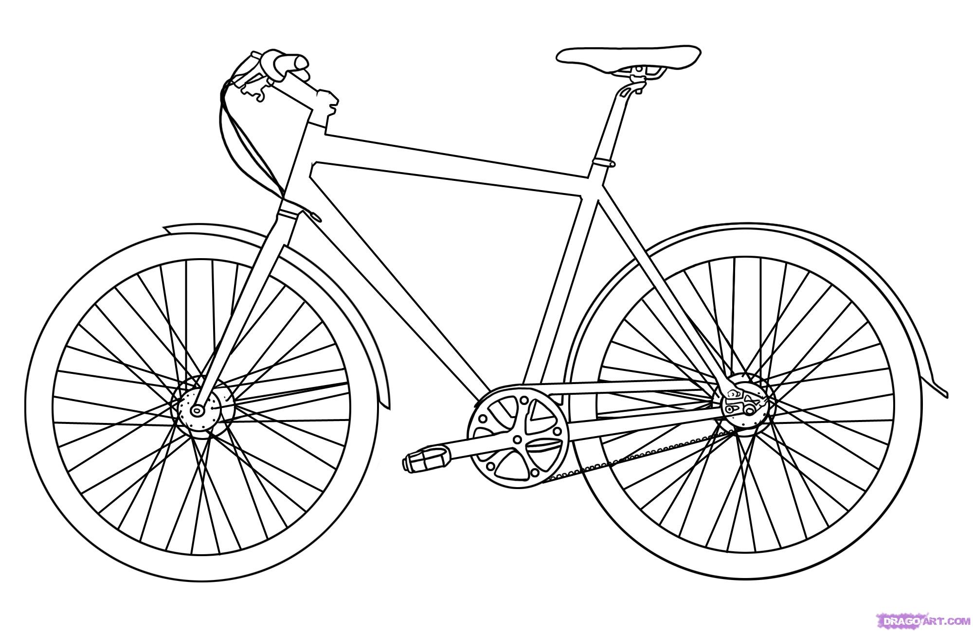 Drawn pushbike To how by Bicycle bike