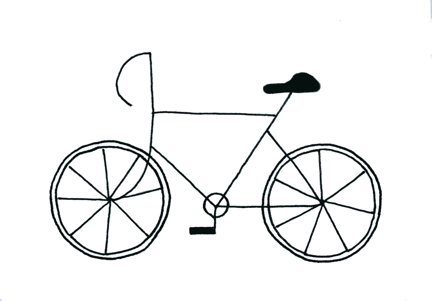 Drawn bike Bike Scooter the bicycle Moon