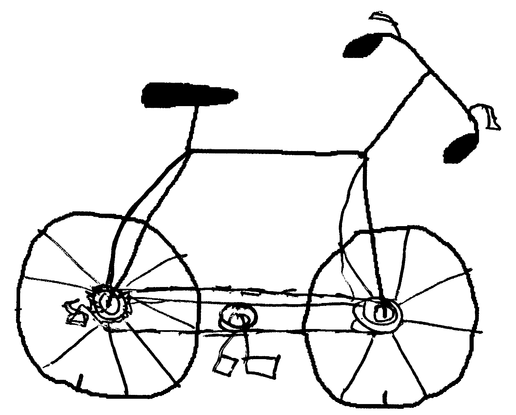 Drawn bicycle The a Science draw Atkinson: