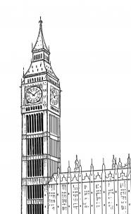 Drawn big ben vector By  to Ben 26