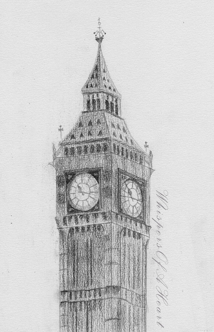 Drawn big ben Big by Drawing DeviantArt WhispersOfAHeart