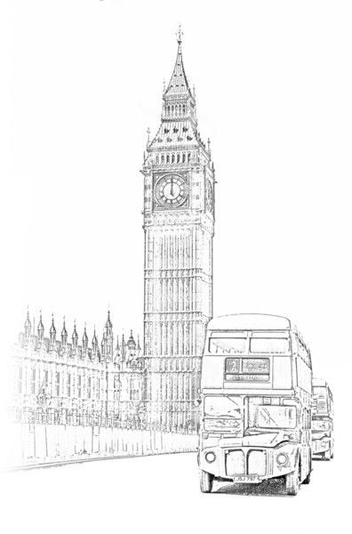 Drawn big ben vector Ben on 20+ tattoo ideas