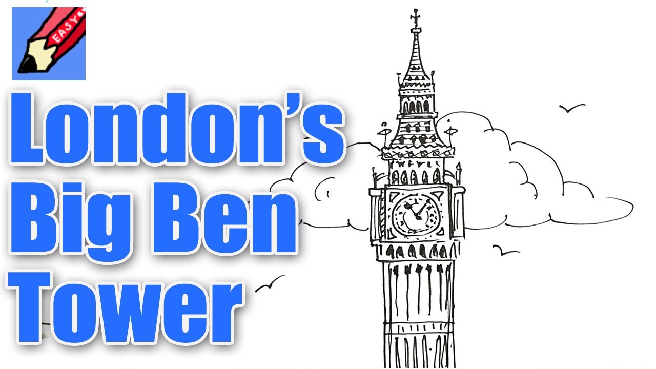 Drawn big ben vector Beginners Tower Big for to