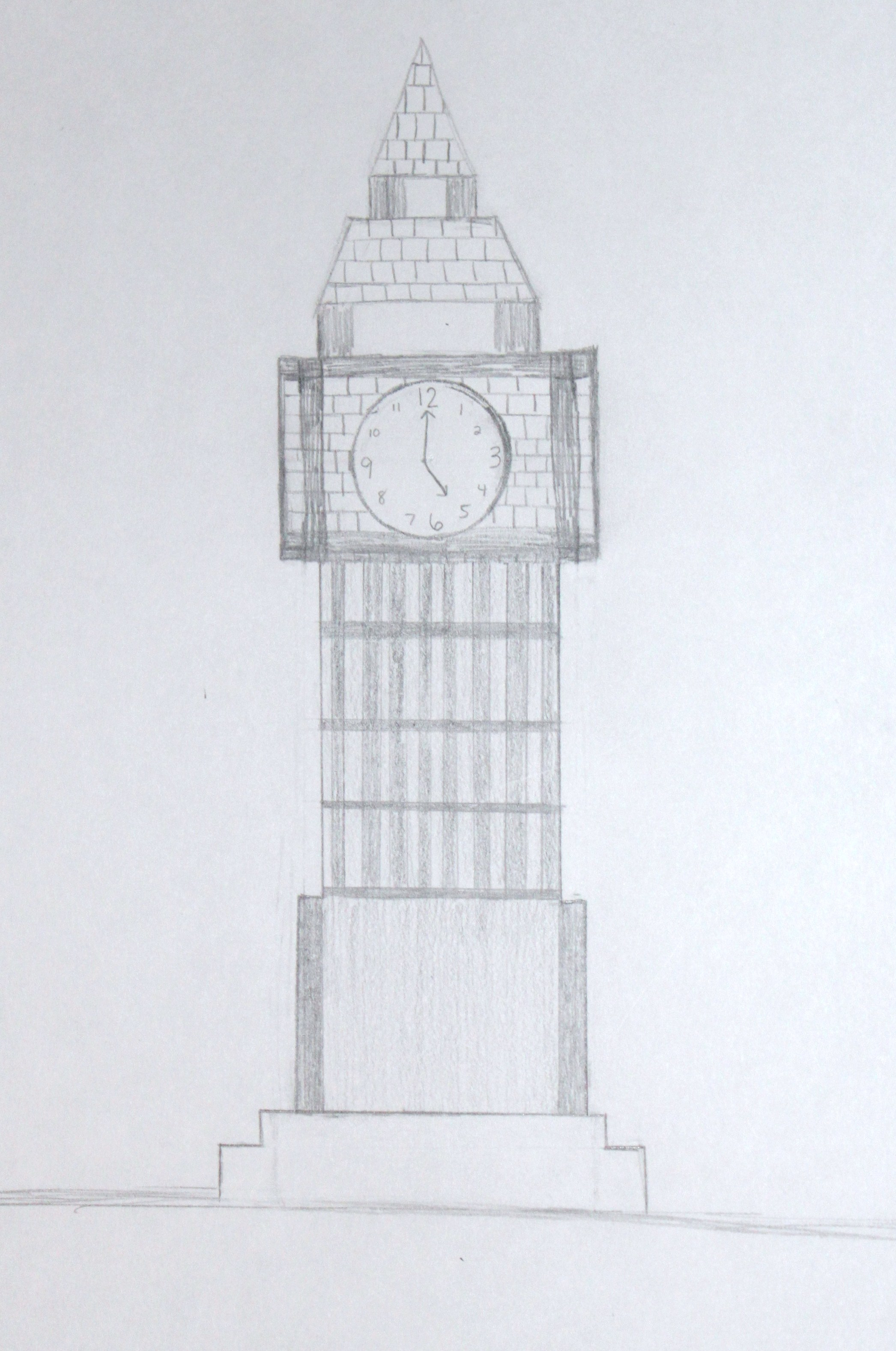 Drawn big ben The I is like brings