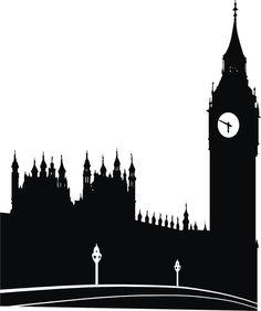 Drawn big ben city london skyline Big Palace ben Sticker Vinyl