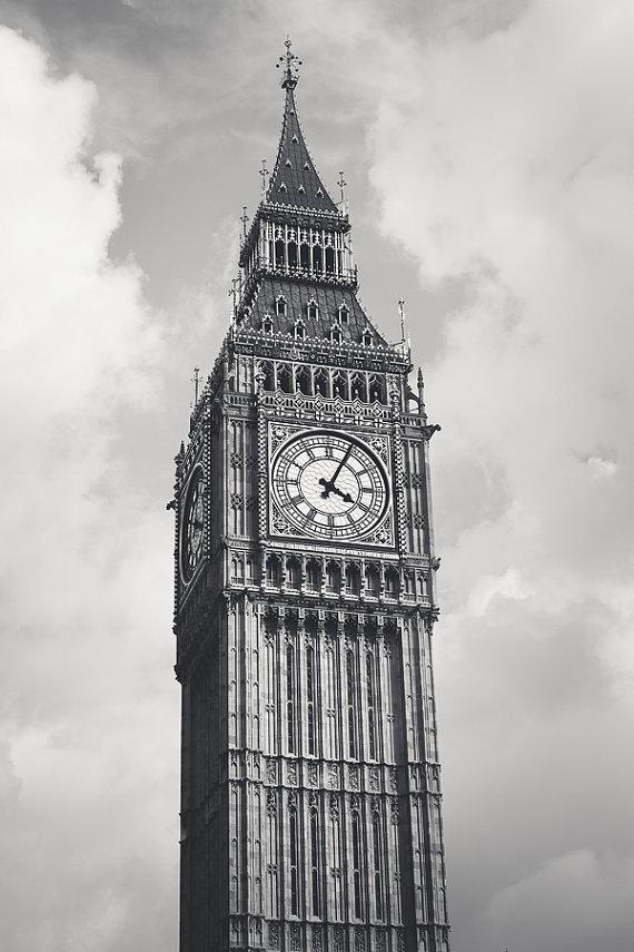 Drawn big ben clock tower White  Art the this