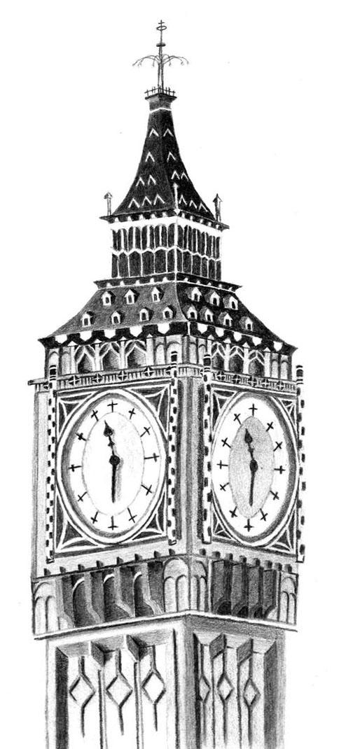 Drawn big ben clock tower FlashofWildfire FlashofWildfire Clock by closeup