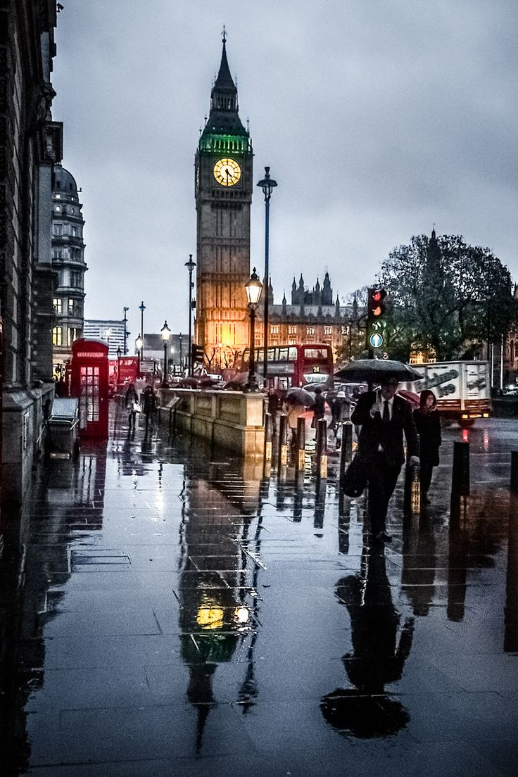 Drawn big ben rainy city London the images 131 www