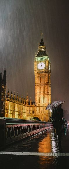 Drawn big ben rainy city London Pinterest linda by DAY!
