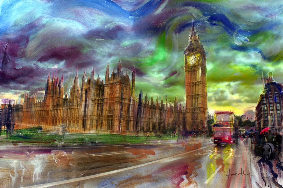 Drawn big ben rainy city St Lee: Howard Rain! #48