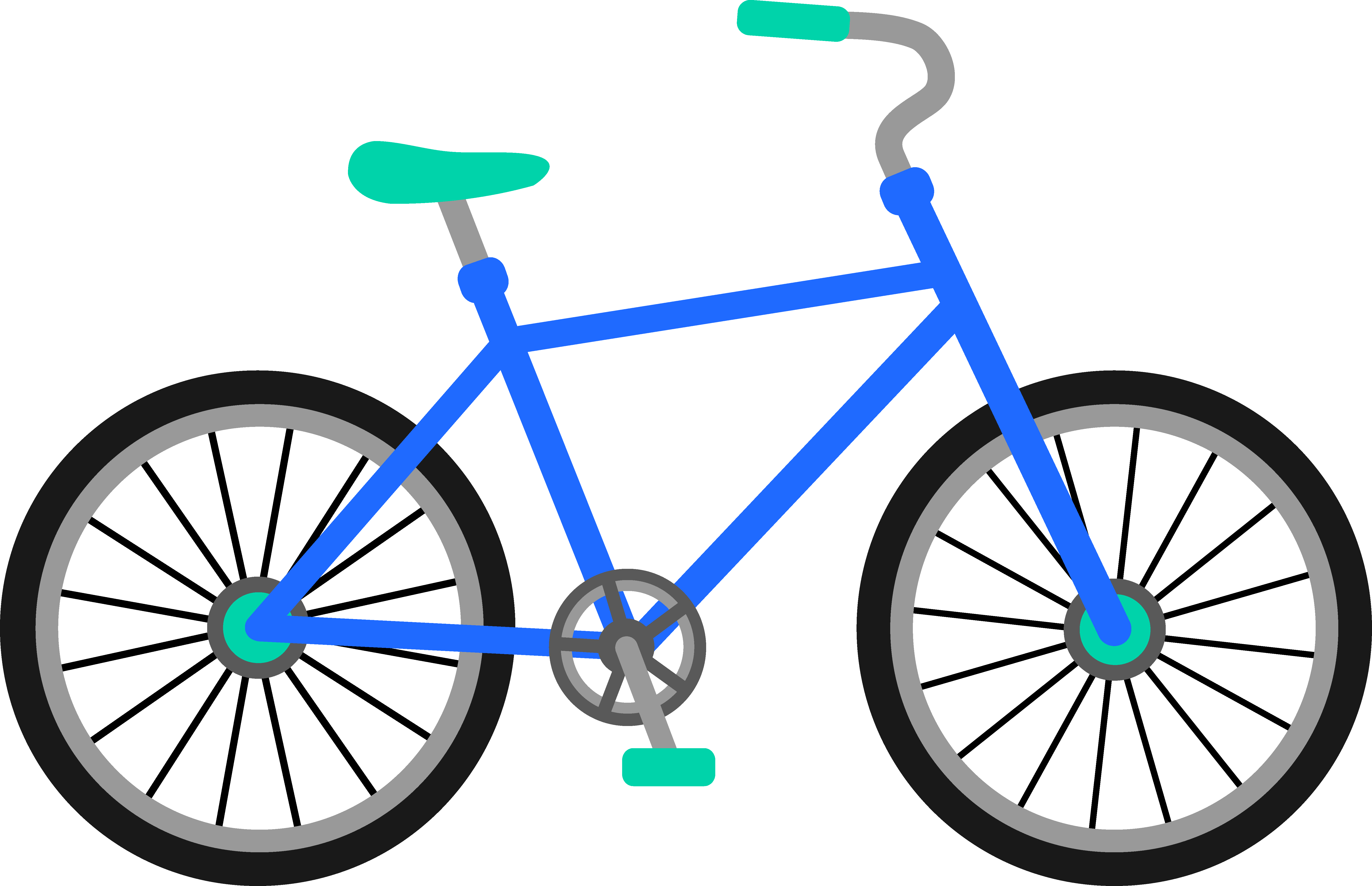 Drawn pushbike animated Turns like it of a