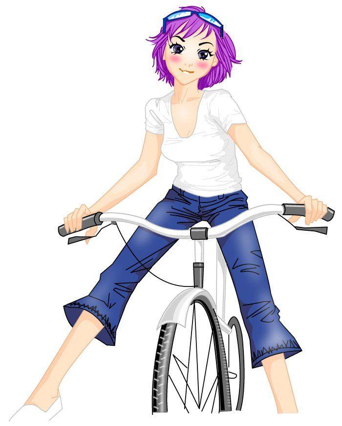 Drawn bike animated #11